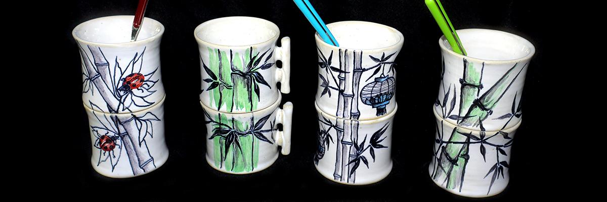 4 duo tasses bambou